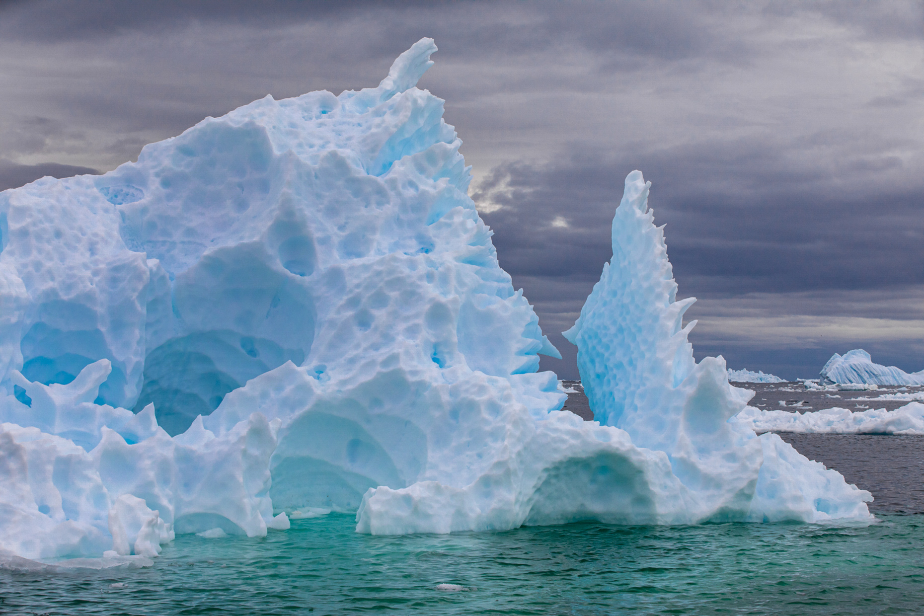 Marguerite Bay-Antarctic Pennisula-icebergs-Lonely-Planet-The-Gullet-Caryn-B-Davis